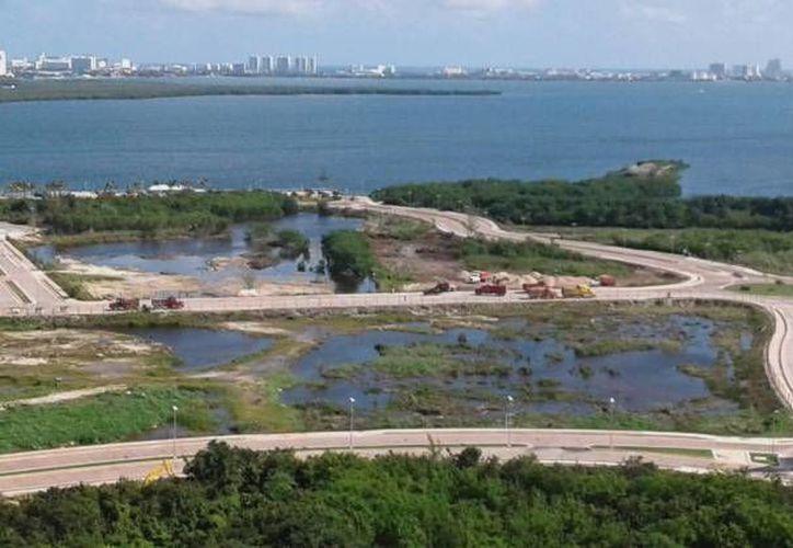 La instancia tiene que ser la Profepa o la Semarnat, quienes hagan la solicitud para asegurar los predios de Malecón Tajamar. (Archivo/SIPSE)