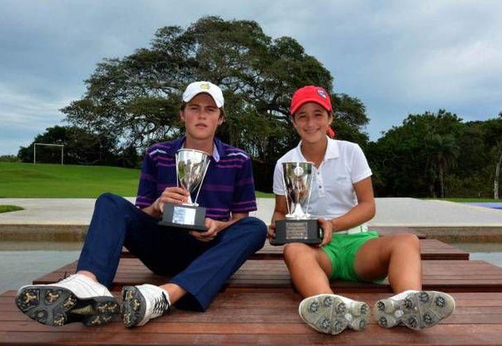 Omar Morales e Isabella Fierro tuvieron buena participación en el torneo. (Milenio Novedades)