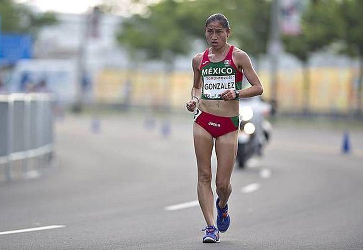 La marchista Guadalupe González (imagen) tiene posibilidades de subirse al podio, así lo afirmó el medallista en los Juegos Olímpicos de Barcelona, Carlos Mercenario. (Archivo/ Mexsport)