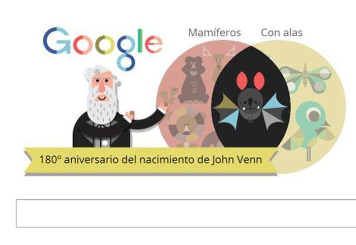El buscador celebra el 180° aniversario del nacimiento del filósofo, lógico y matemático inglés con un logo que permite a los internautas crear gráficos para observar la relación entre diferentes conjuntos. (Captura de pantalla)