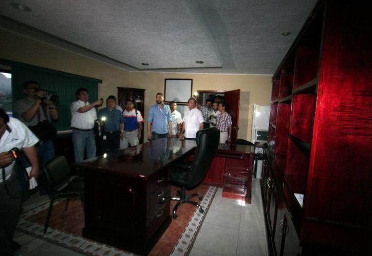 Autoridades de la SSP resguardaron las instalaciones del Ayuntamiento. (Milenio Novedades)