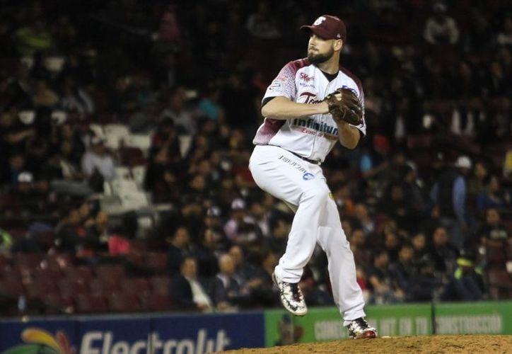 El lanzador zurdo, Derrick Loop se coronó hace unos días en la Liga del Pacífico con Tomateros de Culiacán. (Contexto/ Internet)