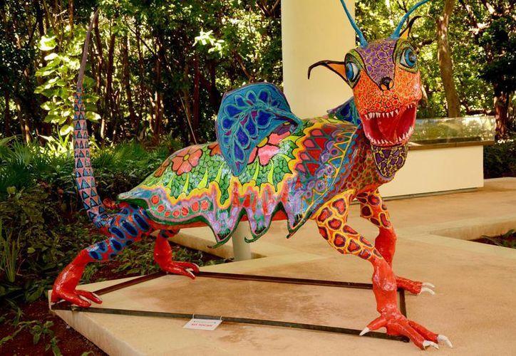 El alebrije también adornará el Museo Maya de Cancún durante el mes de noviembre. (Redacción/SIPSE)