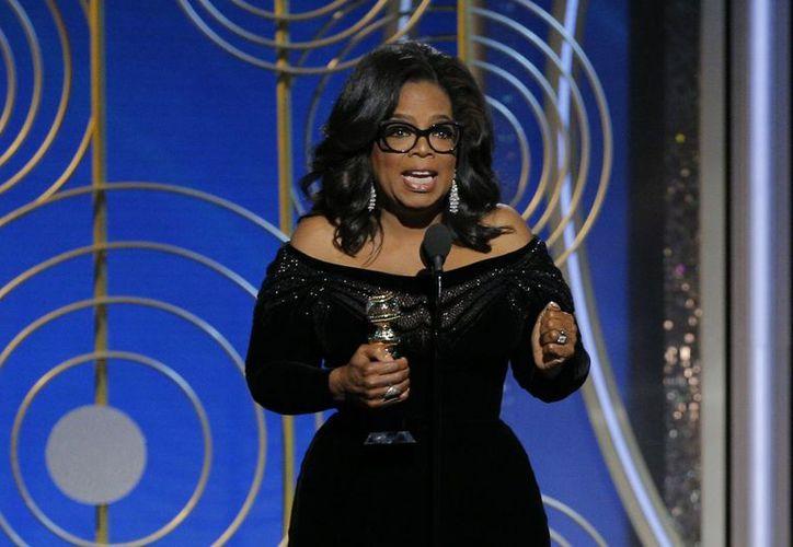 Oprah dio un discurso al recibir el premio Cecil B. DeMille a los logros de toda una vida. (Contexto)