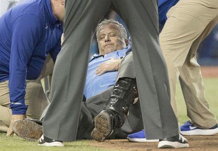 El árbitro fue trasladado al hospital. (Contexto: Internet)
