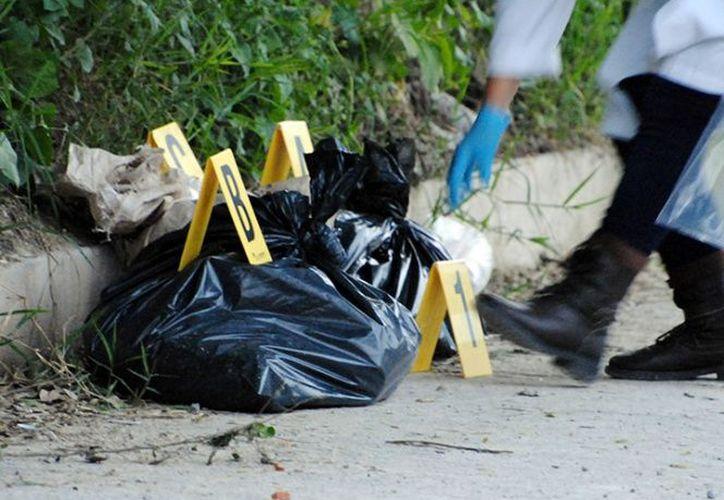 Sus asesinos abandonaron sus restos en bolsas negras. (Foto: Excélsior).