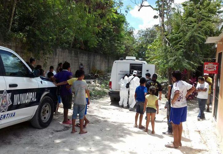 El cuerpo fue trasladado a las instalaciones del Servicio Médico Forense. (Eric Galindo/SIPSE)