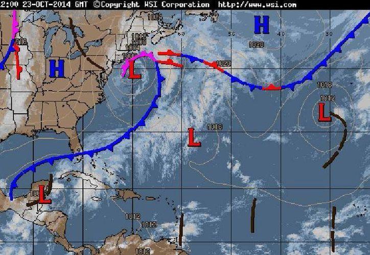 El frente frió número 8 se mueve al Sureste. (Redacción/SIPSE)