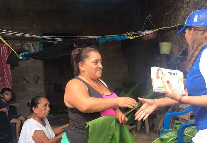 La candidata subrayó que apoyará a los habitantes del municipio. (Cortesía)