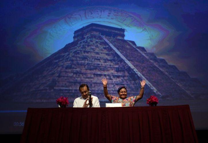 La activista guatemalteca dictó la conferencia magistral 'Los mayas en el siglo XXI'. (SIPSE)