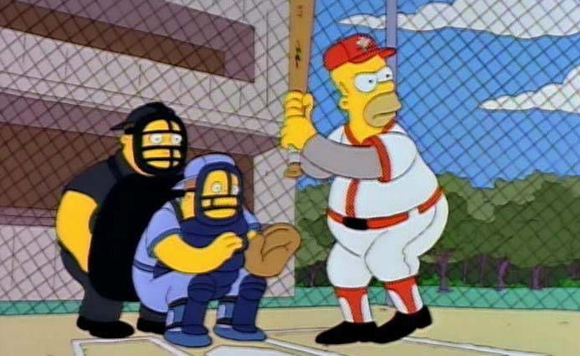El capítulo de Homero jugando beisbol fue transmitido por primera vez el 20 de febrero de 1997, y contó con las voces de exjugadores de las Grandes Ligas.(Archivo/AP)