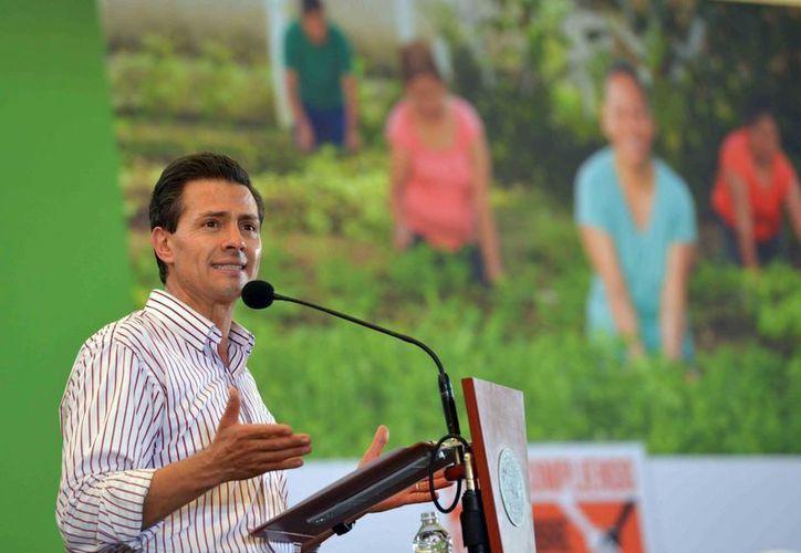 Peña Nieto dijo que su gobierno buscará seguir rompiendo las cifras de generación de empleo año con año. (Notimex)