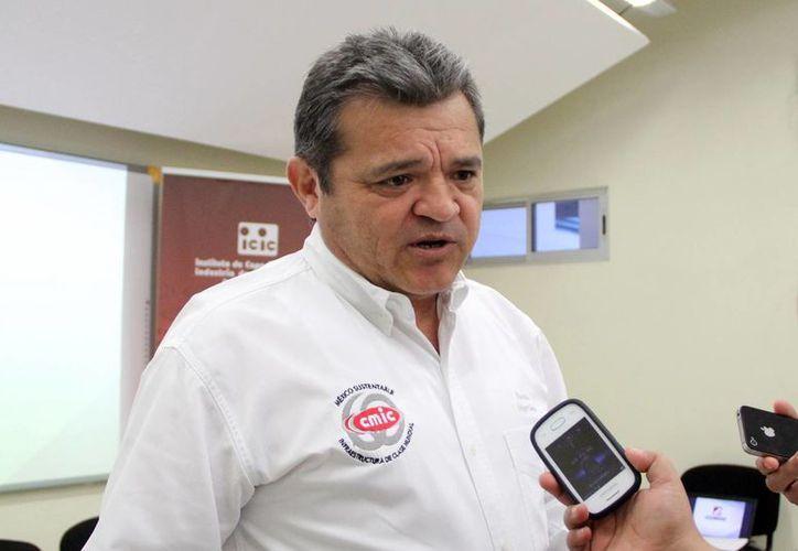 Edgar Conde Valdez habló de los planes de los socios de la CMIC. (Milenio Novedades)