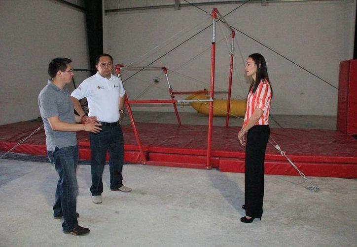 El titular de la Cojudeq recibió al presisidente de la Federación Mexicana de Gimnasia en Chetumal. (Readacción/SIPSE)