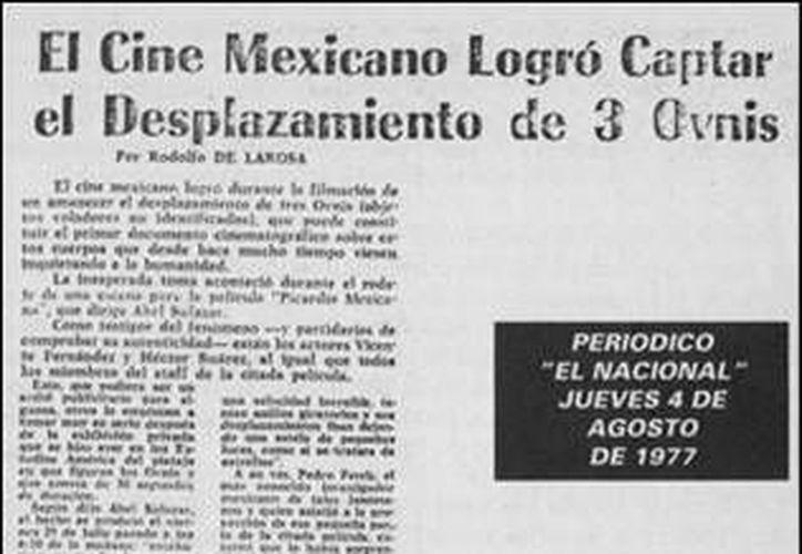 Este es uno de los cientos de reportes periodísticos sobre los ovnis. (Jorge Moreno/SIPSE)
