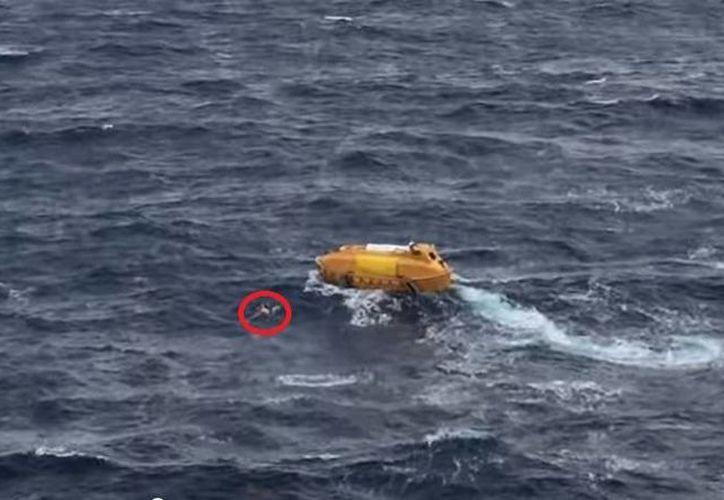 El turista fue rescatado por un bote enviado por el crucero Disney Magic. (Redacción/SIPSE)