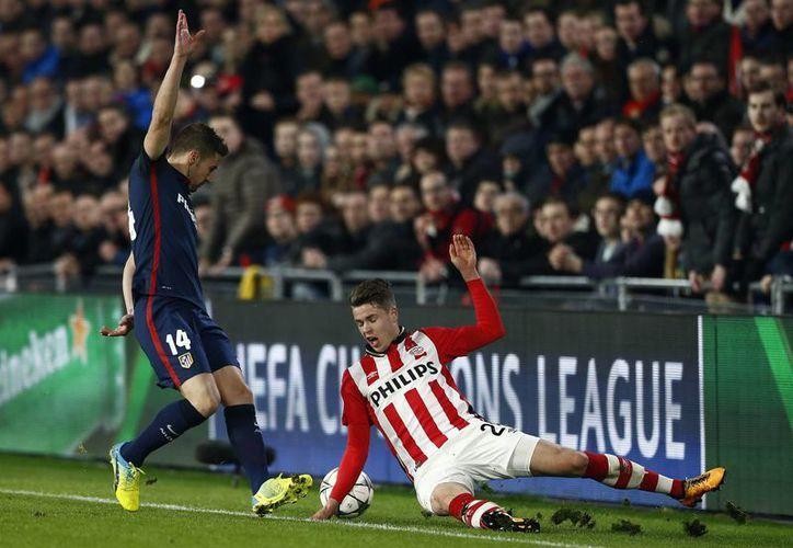 El PSV y Atlético de Madrid empataron sin goles en la ida de los octavos de final de la Champions League. (AP)