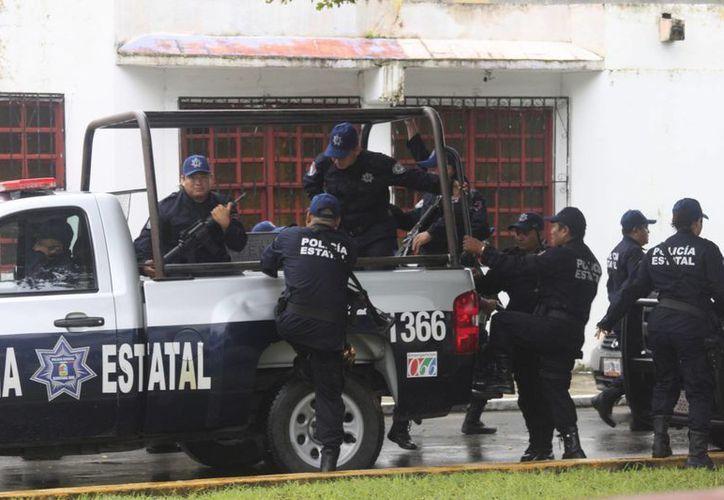 La renta de los policías aún no se aplica debido a que no existe el grupo especial que señala la ley. (Archivo/SIPSE)