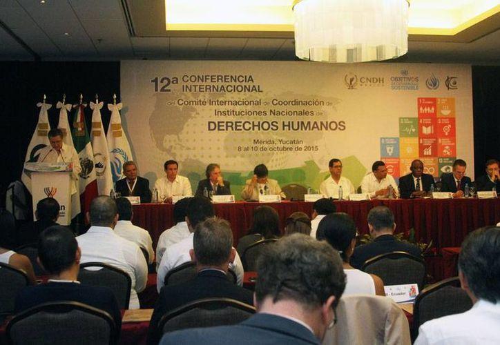 Este jueves inició en Mérida la 12ª Conferencia Internacional de Instituciones Nacionales para la Promoción y Protección de los Derechos Humanos. (César González/SIPSE)