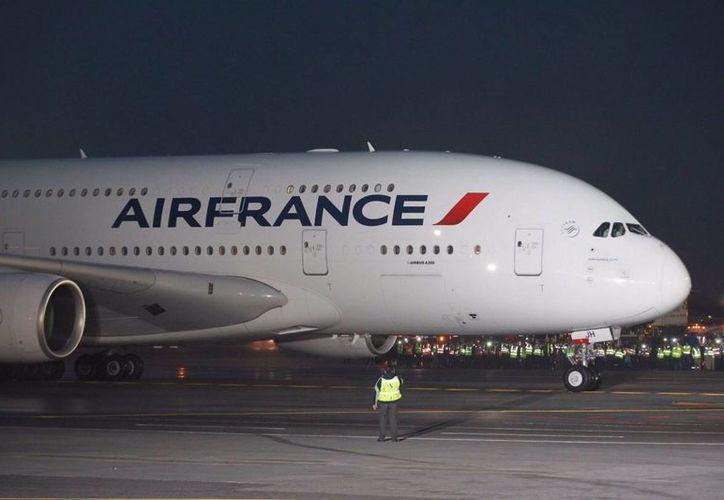 Esta tarde aterrizó en la Ciudad de México el Airbus A380 de AirFrance, proveniente del aeropuerto parisino Charles de Gaulle. (Notimex)