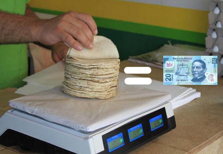 Será en los primeros días del mes de marzo en que se ajuste el precio del kilogramo de tortilla. (Especial/ SIPSE)
