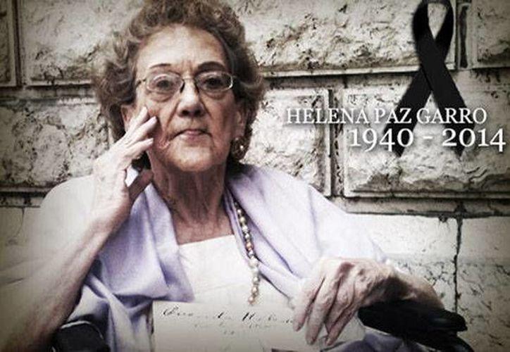Imagen de la última entrevista que Helena Paz Garro concedió a Milenio. (Leticia Sánchez/Oscar Ávila)
