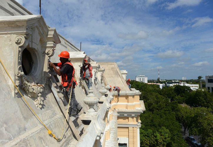 El Palacio Cantón estará en obras de restauración y conservación durante este mes y mayo de 2017. (Cortesía)