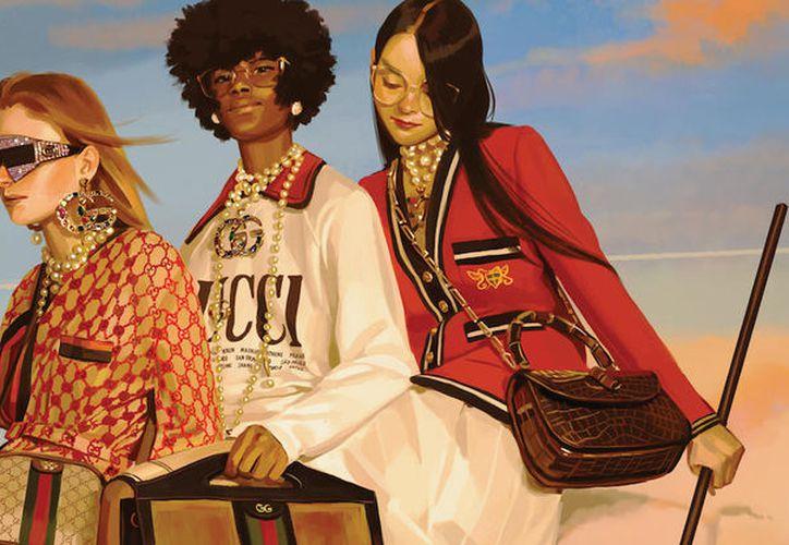 La moda de diseñador italiano se plasma en un lienzo. (Foto: El País)