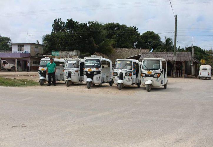 El moto taxi no está prohibido en la legislación local. (Benjamín Pat/ SIPSE)