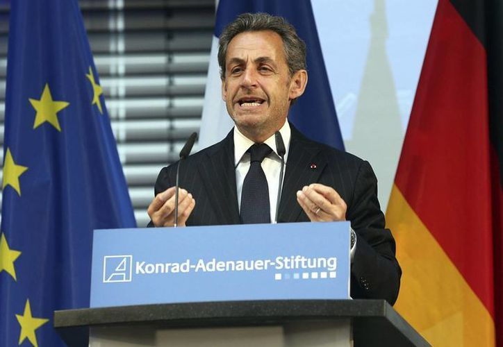 El expresidente francés Nicolas Sarkozy durante un discurso en la Fundación Konrad Adenauer, en Berlín, Alemania, el pasado 28 de febrero. (Archivo/EFE)