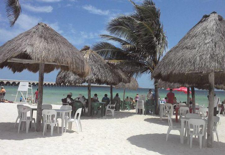 Las playas estuvieron despejadas la mayor parte del día. (SIPSE)