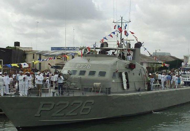 """El buque insignia """"Chochinie"""" donde celebraron la ceremonia. (SIPSE)"""