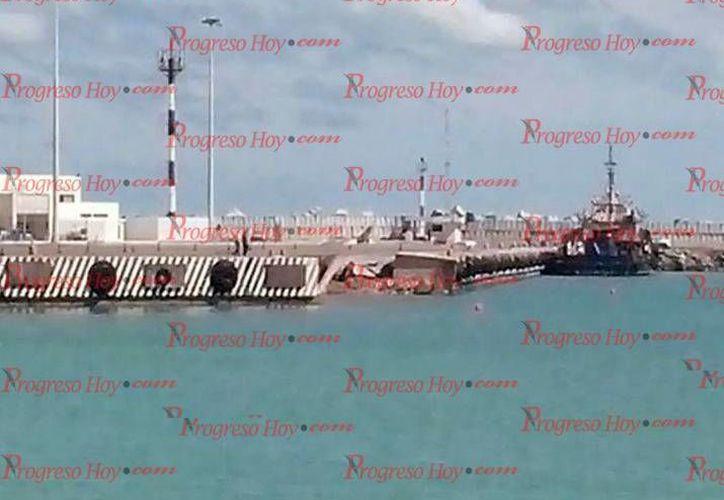 El buque 'Tropic Scout' mide 47.26 metros de eslora y 11.58 de ancho. (Óscar Pérez/SIPSE)