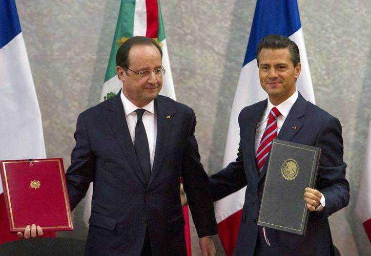 Entre los acuerdos signados este jueves entre los gobiernos mexicano y francés está uno sobre el desarrollo de los usos pacíficos de la energía nuclear. (Notimex)