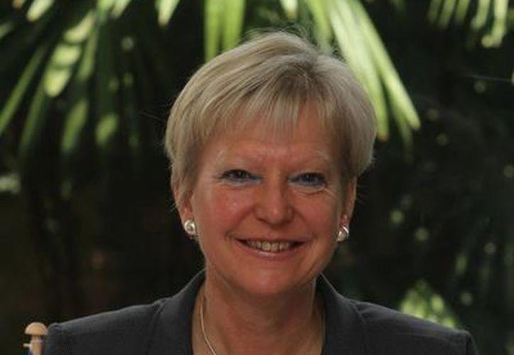 Marie Anne Coninsx, embajadora de la Unión Europea en México. (Notimex/Archivo)