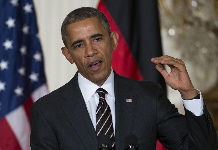 Obama pidió a l presidente Putin aprovechar las oportunidades de diálogo para poner fin al conflicto con Ucrania. (AP)