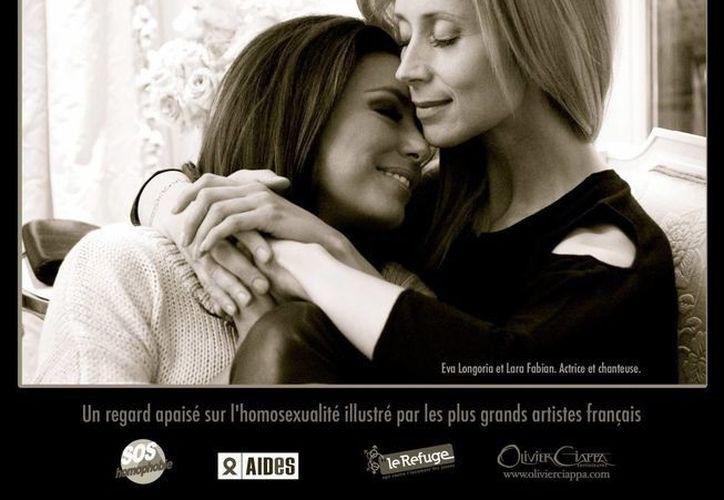 """Con esta campaña se busca luchar contra la homofobia en Francia y tendrá lugar en una exposición llamada """"Las parejas imaginarias"""". (Facebook oficial)"""