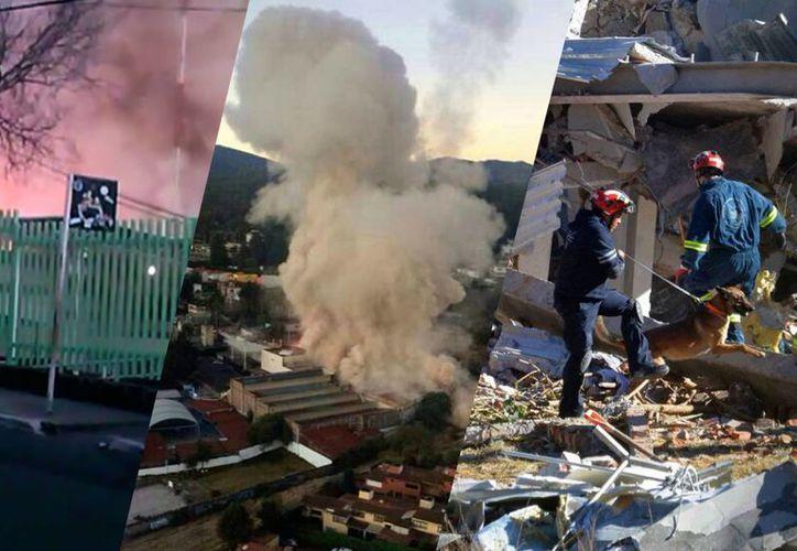 La explosión colapsó el tercer piso del Hospital Materno Infantil cuando una pipa de gas abastecía al centro de salud. (Foto: Especial)