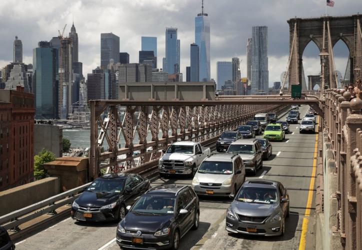 Neoyorquinos se quejan del tráfico causado los días que Joaquín Guzmán acude a audiencia. (Foto: Contexto)