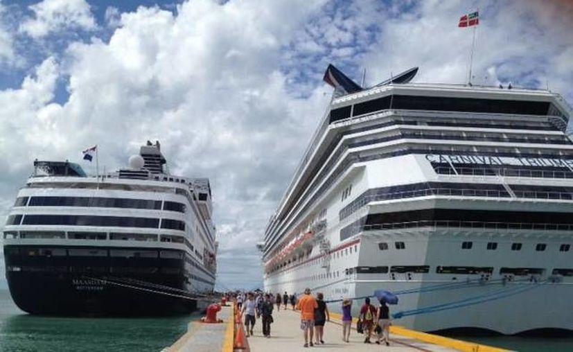 Llegada de 7 cruceros a Progreso.(Foto: Novedades Yucatán)