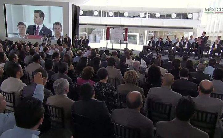 Aspecto de la inauguración de la planta Nestlé en Ocotlán, Jalisco, el 6 de octubre de 2016, acto encabezado por el presidente Enrique Peña Nieto. (Foto: Twitter: @EPN)