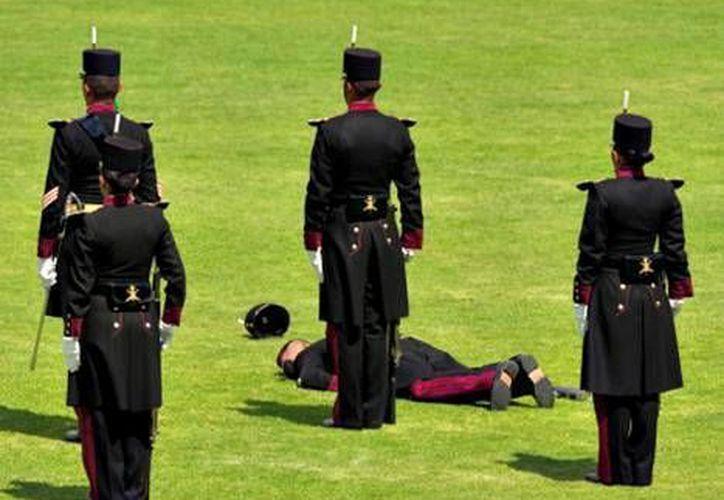 El cadete fue auxiliado de inmediato. (Milenio)