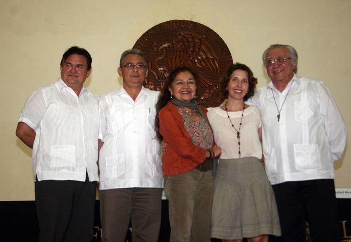 En conferencia: Rafael Morcillo, Sara Poot Herrera, Carlos Echazarreta, Agustín Monsreal, y Paula Haro Poniatowska. (Milenio Novedades)
