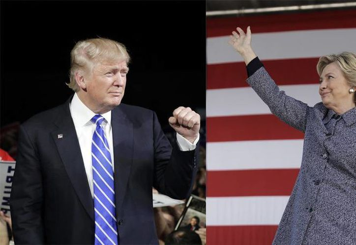 Después de una de las más convulsas campañas presidenciales en su historia, este martes Estados Unidos decidirá entre Donald Trump o Hillary Clinton. La moneda está en el aire. (Associated Press)