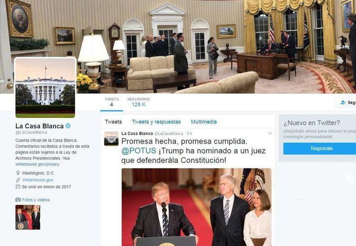 Con la llegada de Trump a la Casa Blanca todavía no se ha nombrado a un nuevo responsable de prensa para medios hispanos. (twitter.com/LaCasaBlanca)