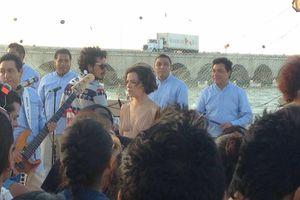 Natalia Lafourcade y Los Ángeles Azules arman fiesta en Progreso