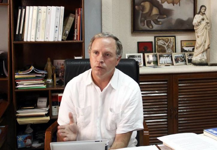 El padre Jorge Antonio Laviada, rector del Seminario Conciliar. (Juan Albornoz/SIPSE)