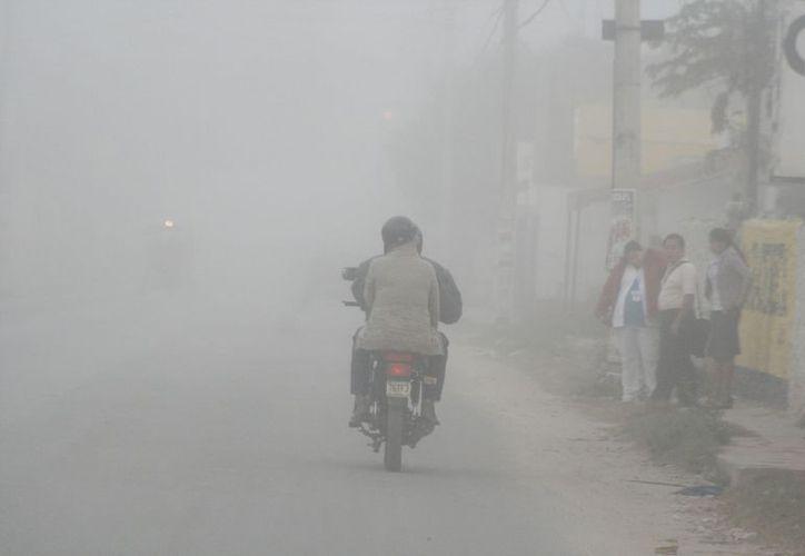 En los últimos días ha amanecido con neblina en Yucatán. (SIPSE)