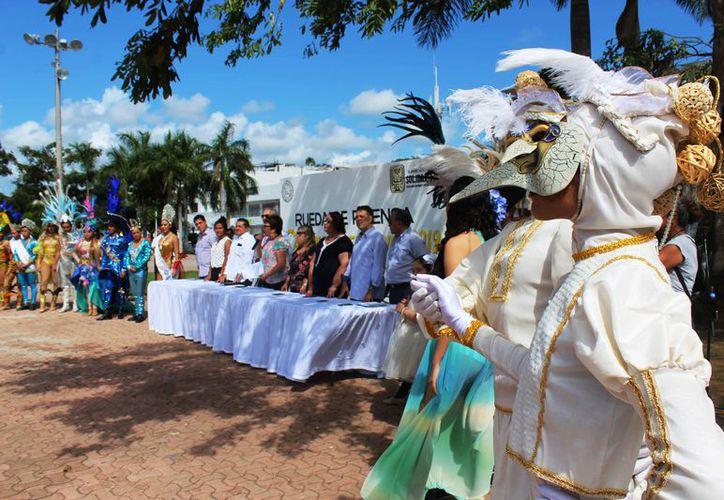 Laura Beristáin Navarrete, presidenta municipal de Solidaridad, informó sobre los pormenores de la festividad. (Octavio Martínez/SIPSE)