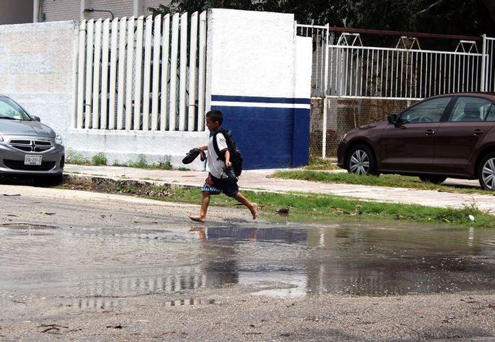 La Coordinación Estatal de Protección Civil informó que se prevé que las lluvias continúen, son parte de la onda tropical número 31. (Joel Zamora/SIPSE)